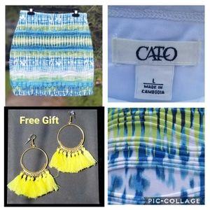 NWOT Cato Summertime Colorful Mini Skirt Size L